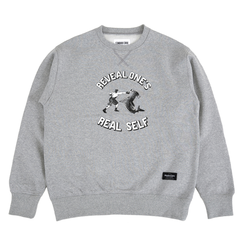 STV. SHARK PUNCH SWEAT SHIRT GRAY