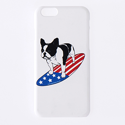 STV. SURFING BULLDOG I PHONE 6 CASE WHITE