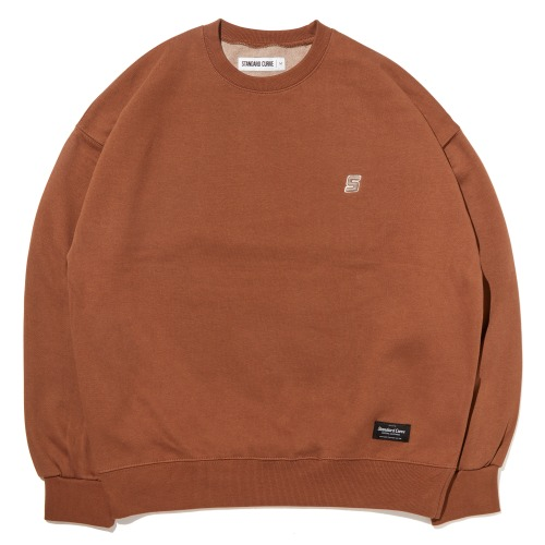 STV. S LOGO SWEAT SHIRT BROWN