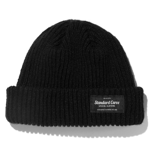 STV. 20 MAIN LABEL BEANIE BLACK