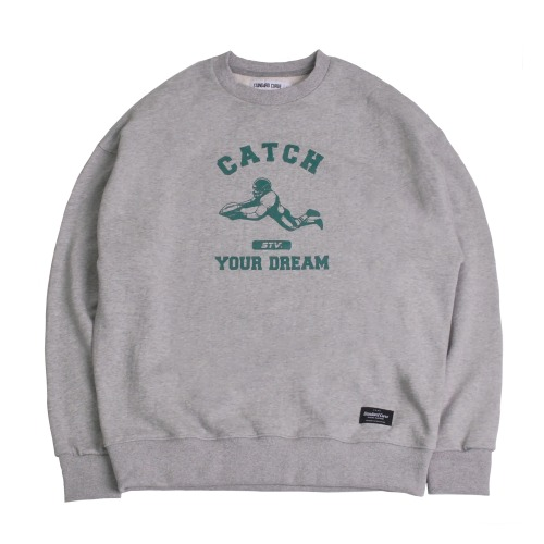 STV. CATCH YOUR DREAM SWEAT SHIRT GRAY