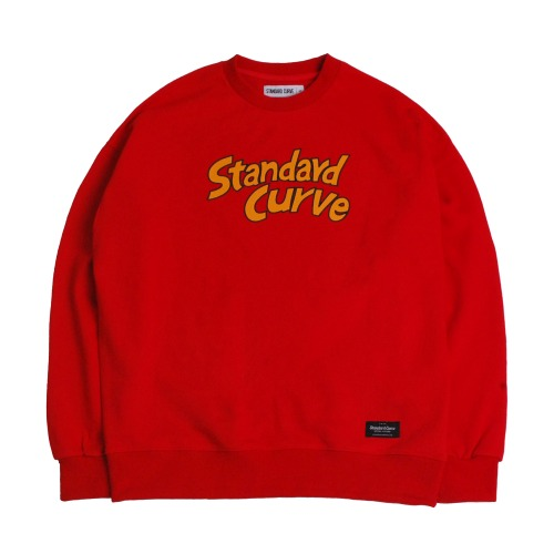 STV. CARTOON FONT SWEAT SHIRT RED