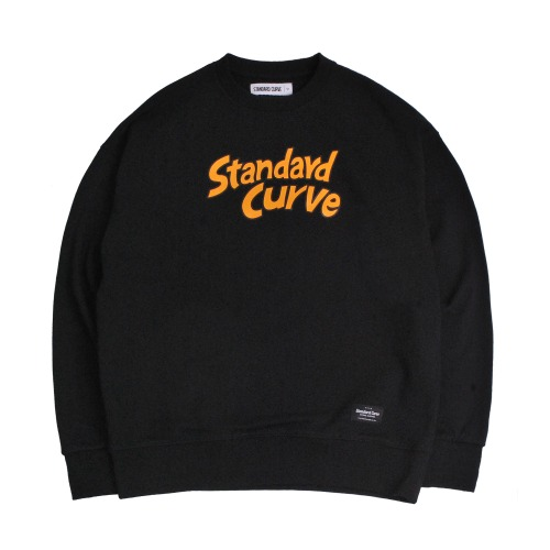 STV. CARTOON FONT SWEAT SHIRT BLACK